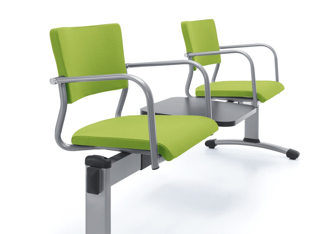 Green Bench Seating with Table