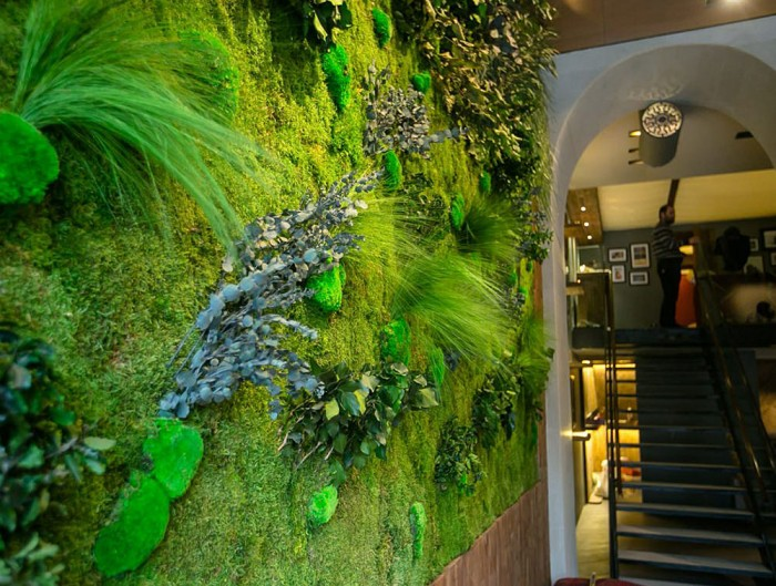 Green-Mood-Green-Walls-Forest-in-Passage-Staircase