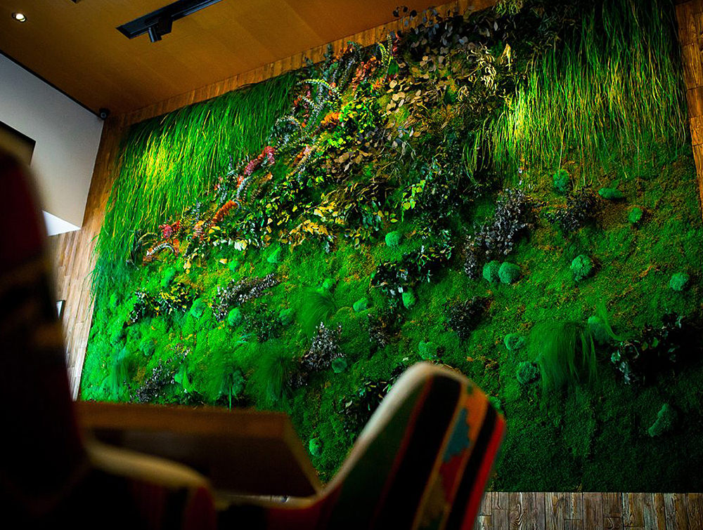 Green-Mood-Green-Walls-Forest-in-Passage-Wall