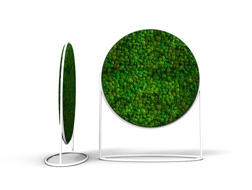 Green-Mood-Moss-Acoustic-Circular-Free-Standing-Screen