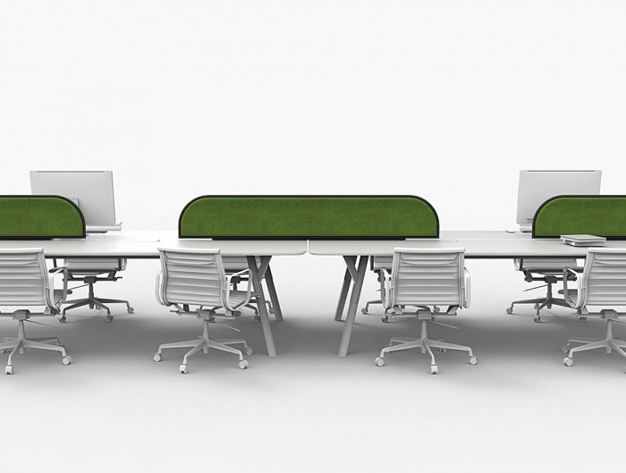 Green-Mood-Moss-Acoustic-Desk-Screens-with-Matte-Black-Structure-in-White-Office-Setting