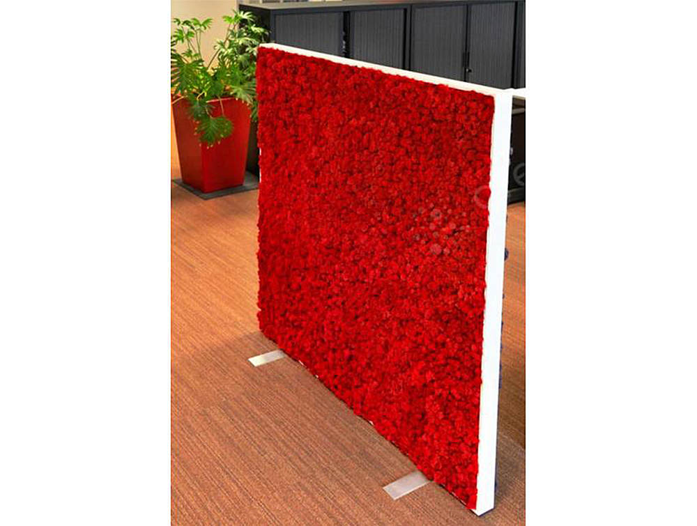Green-Mood-Moss-Acoustic-Rectangular-Free-Standing-Screen-with-Red-Lichen-Moss-Filling