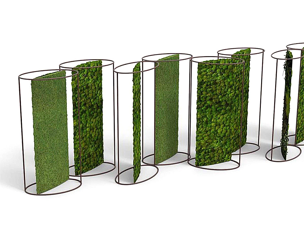 Green-Mood-Moss-Acoustic-Room-Dividers-with-Corten-Structure-and-Lichen-and-Ball-Moss-Filling