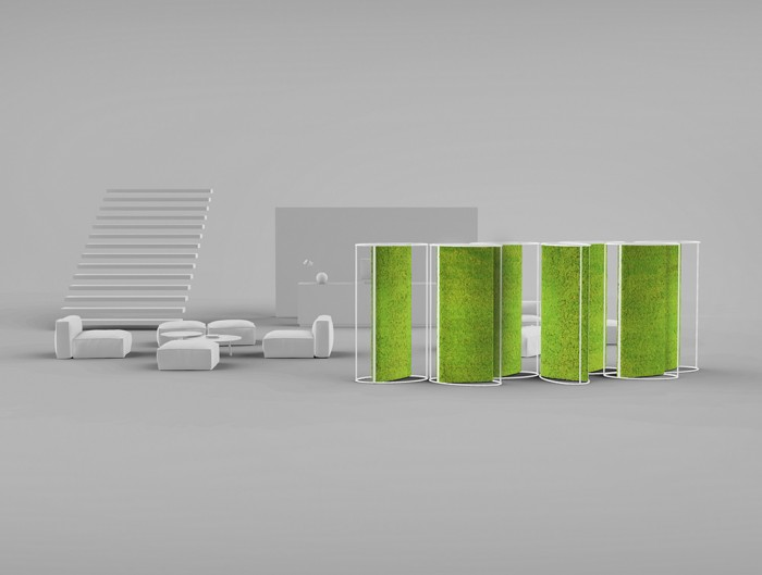 Green-Mood-Moss-Acoustic-Room-Dividers-with-Matte-White-Structure-and-Lichen-Moss-Filling