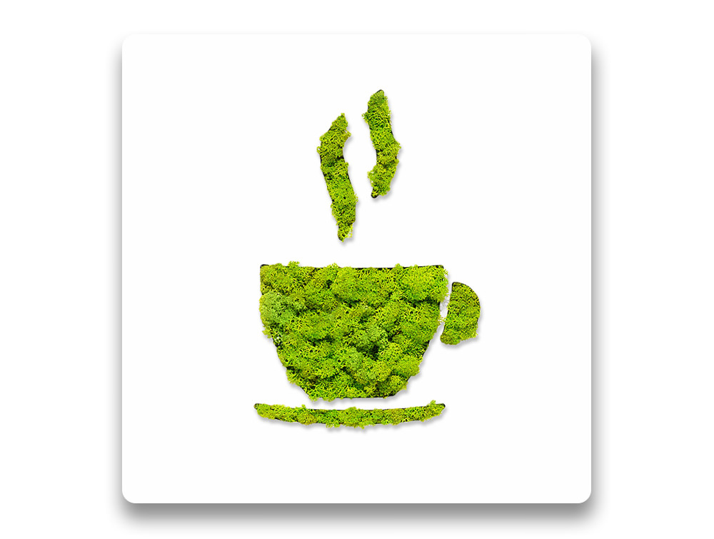 Green Mood Pictogram Coffee Sign