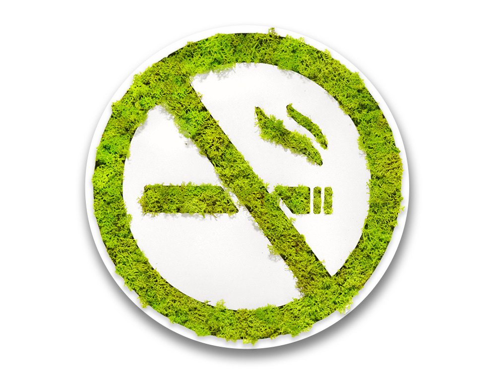 Green Mood Pictogram No Smoking Sign
