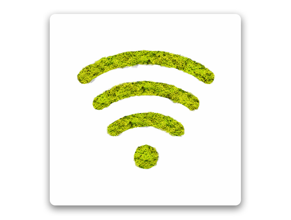 Green Mood Pictogram WiFi Sign