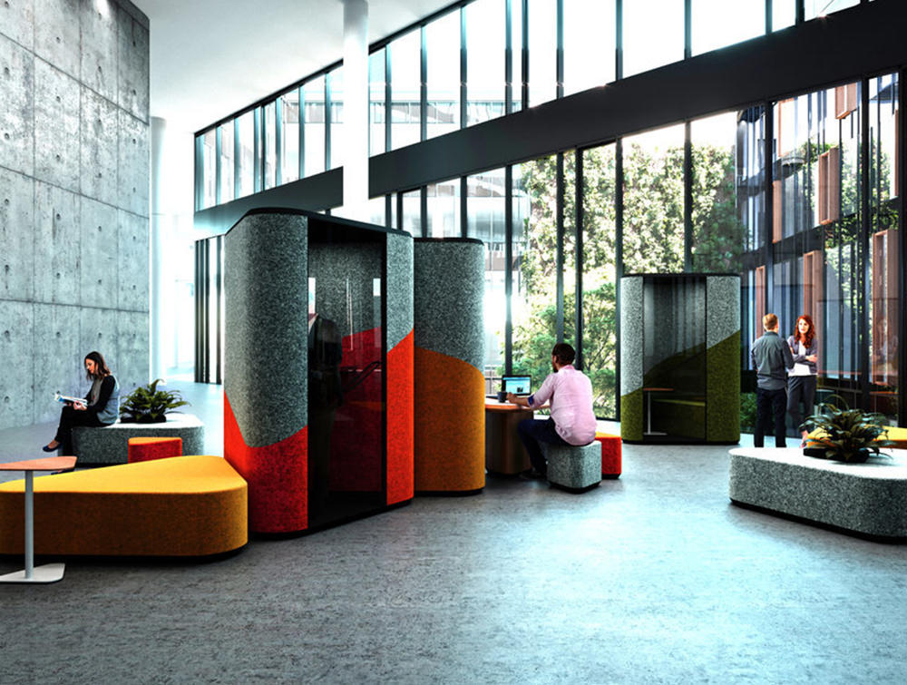 Hana-Compact-Acoustic-Phone-Booth-Ground-View-in-Seating-Area