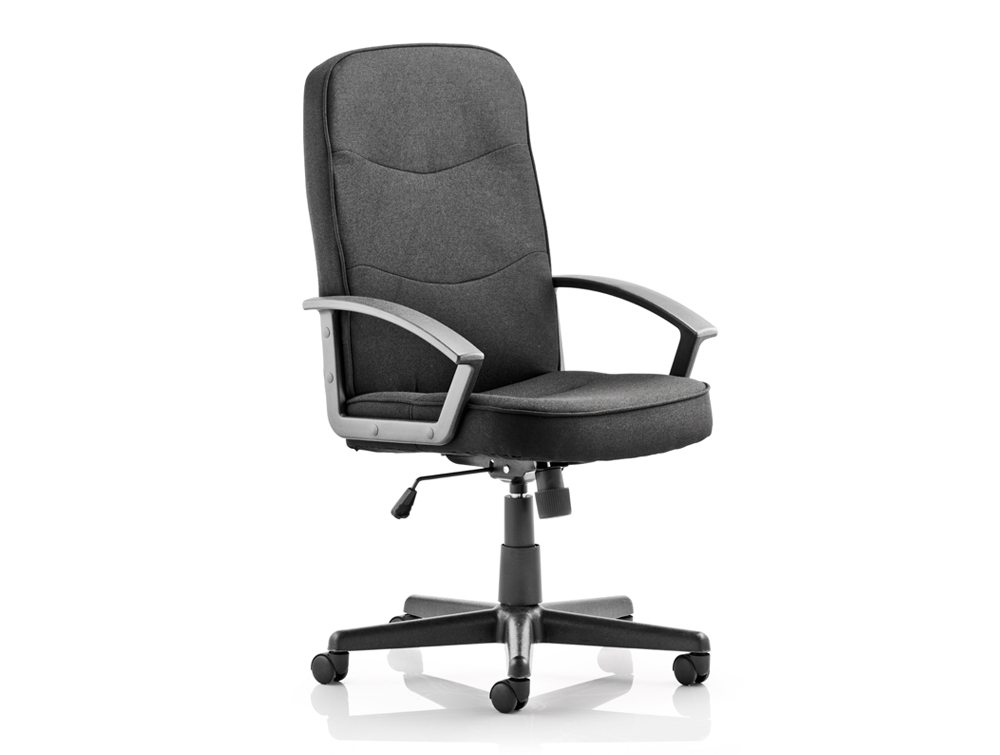Harley Executive Chair Black Fabric With Arms Image 2