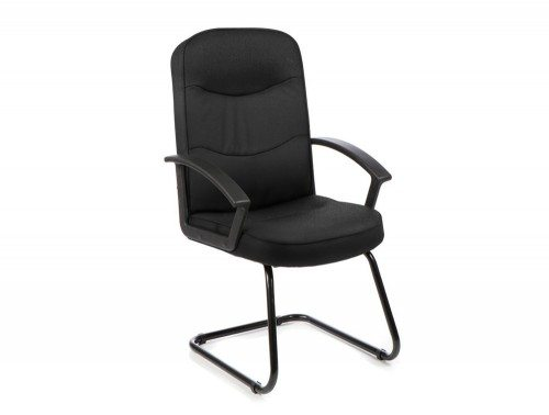 Harley Visitor Cantilever Black Fabric With Arms Featured Image