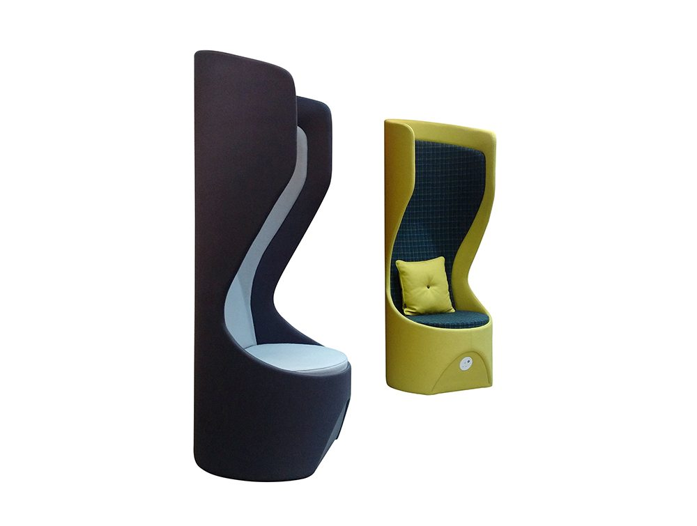 Hide Acoustic Office Pod High Back Pair