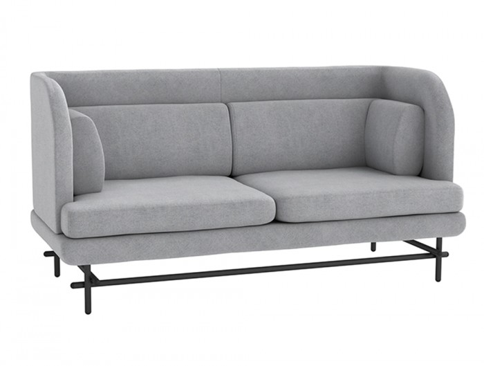 Home Super Comfy 2 Seater Sofa in Grey