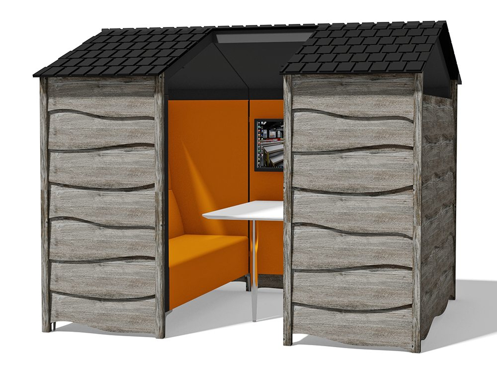 Huddle Shed Rustic Meeting Pod 1