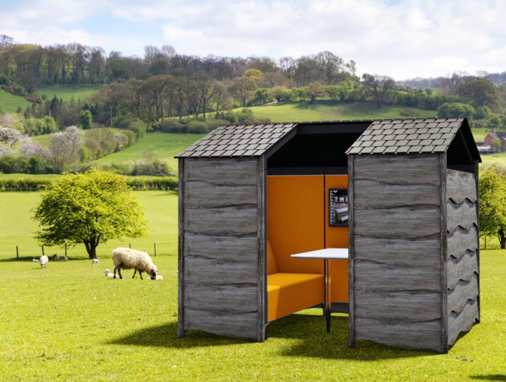 Huddle Shed Rustic Meeting Pod 3