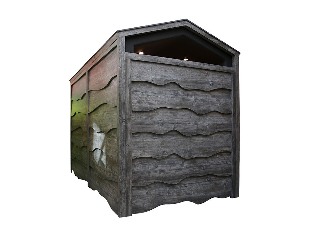 Huddle Shed Rustic Meeting Pod Rear