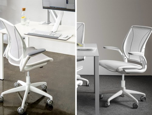 Humanscale Diffreint Full Mesh Task Office Chair in Office Setting