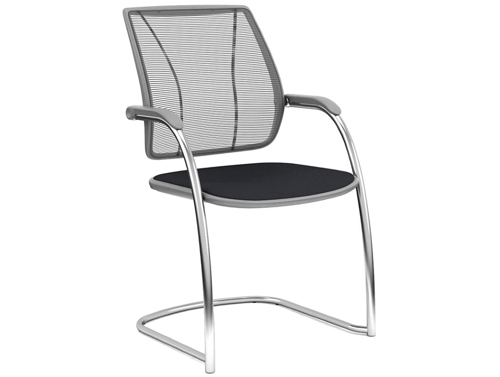 Humanscale Diffrient Occasional Chair with Non-stretch Mesh Backrest