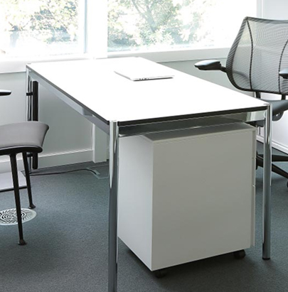 FHumanscale Liberty All Mesh Side Task Chair with Frameless Front Edge 2 in Black Frame with Grey Seat in Office Desk Table