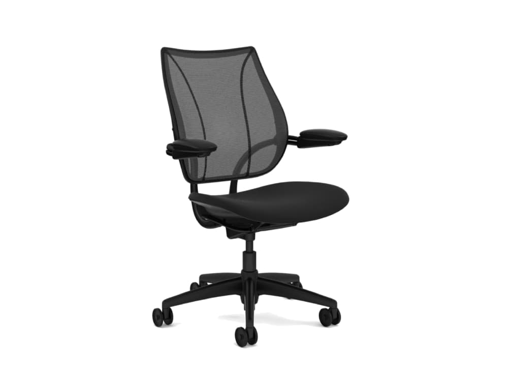 Humanscale Liberty Mesh Back Task Office Chair in Black