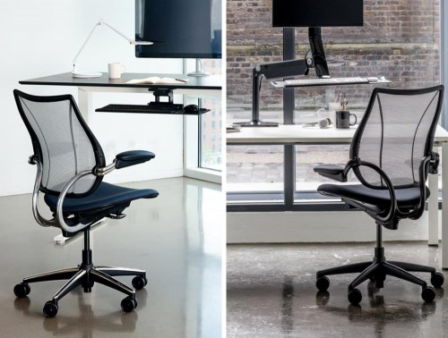 Humanscale Liberty Mesh Back Task Office Chair in Office Setting