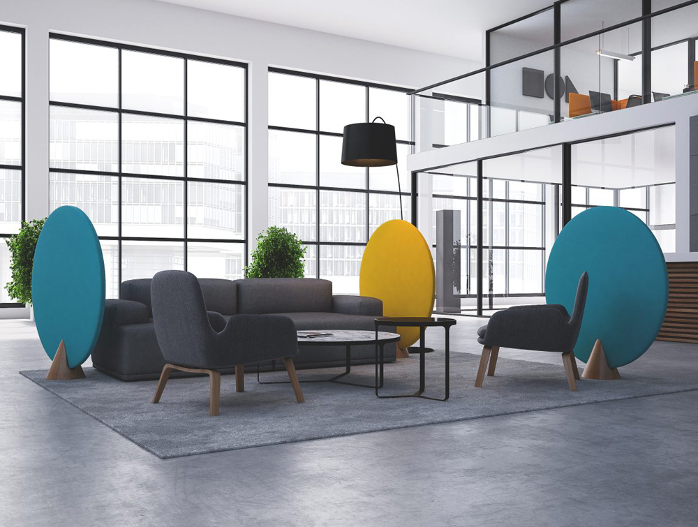 Hush Cone Oval Acoustic Standing Panel