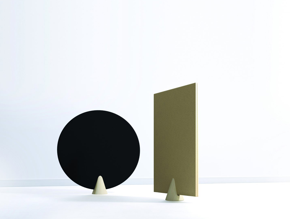 Hush Cone Oval and Rectangular Acoustic Panels with White Background