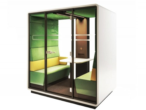 Hush Meet Acoustic Meeting Pod in Green