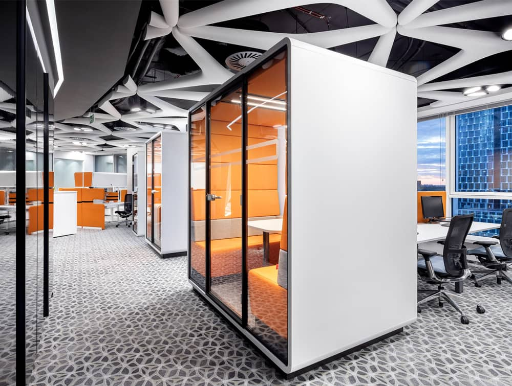 Hush Meet Acoustic Meeting Pod in Open Working Space