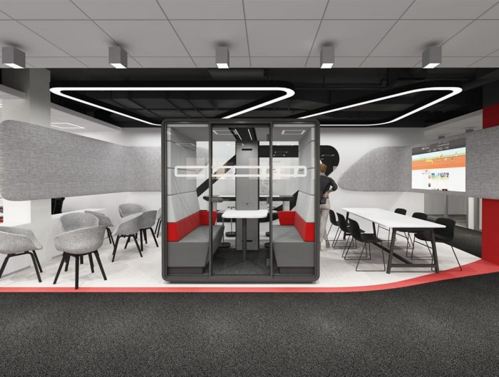 Hush Meet Acoustic Meeting Pod in Reception Area