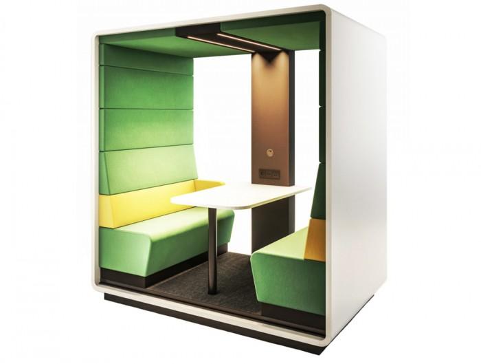 Hush Meet Open Acoustic Meeting Pod in Green