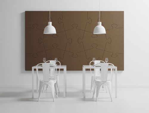 Hush Noise Cancelling Puzzle Wall Piece
