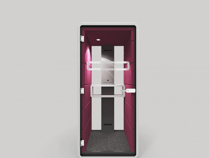 Hush Phone Standing Acoustic Glass with Handle and Power Module