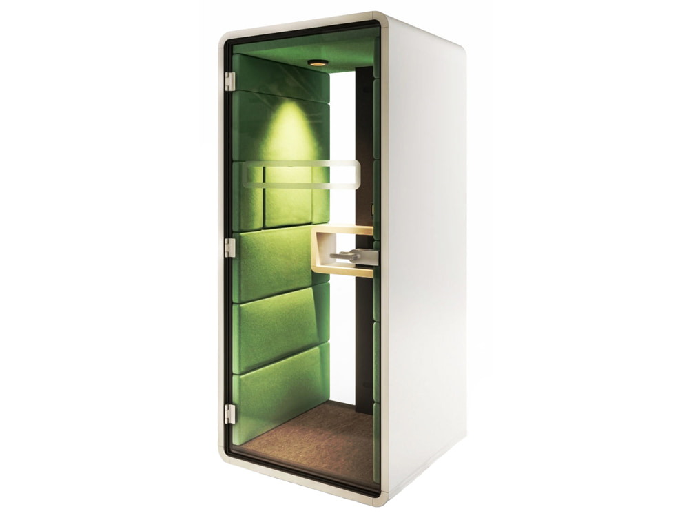 Hush Phone Standing Acoustic Pod in Green