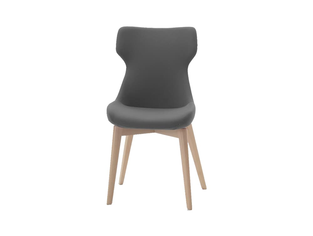 Ikon Soft Seating Chair with Wooden Legs