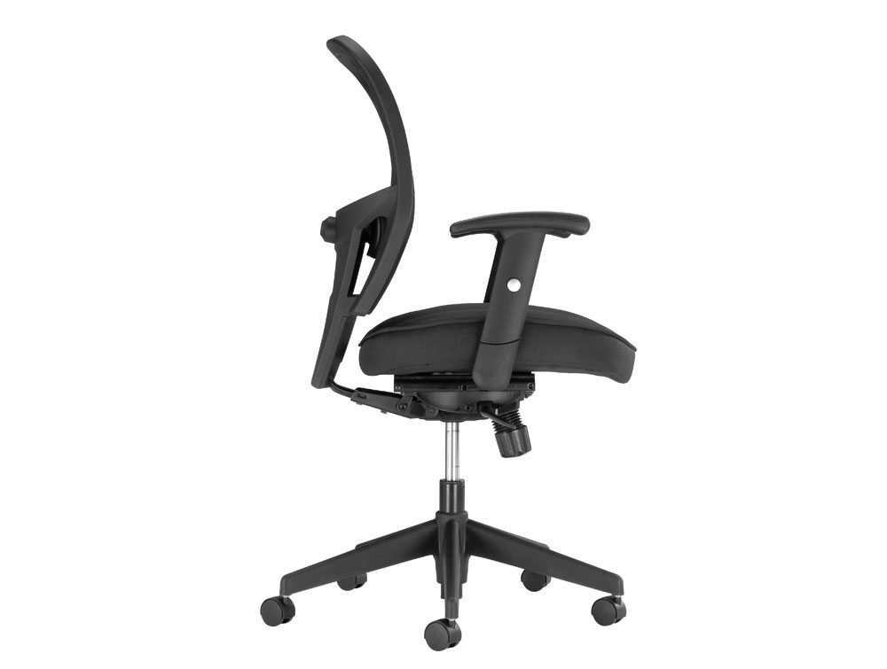 Influx Amaze Chair Synchronous in Mesh Side Angle