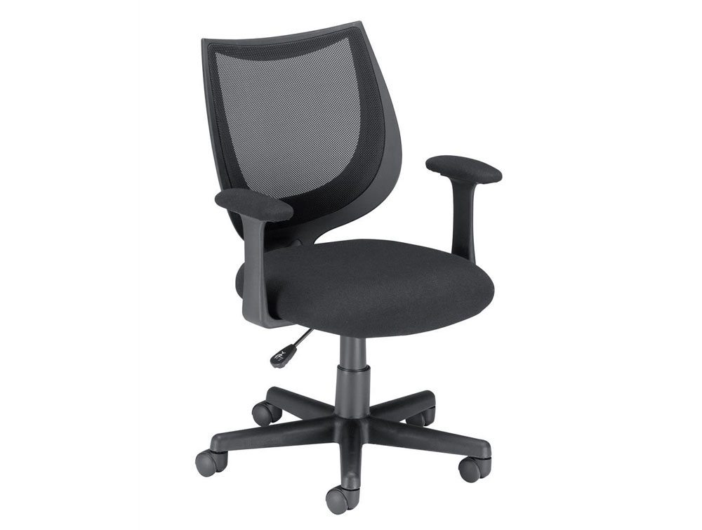 Influx Gleam SoHo Operator Armchair in Black Mesh