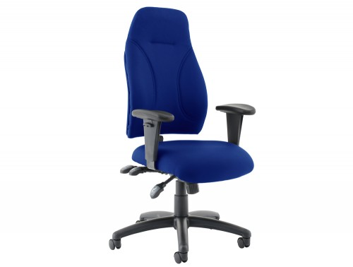 Influx-Posture-High-Back-Armchair-Seat-Blue