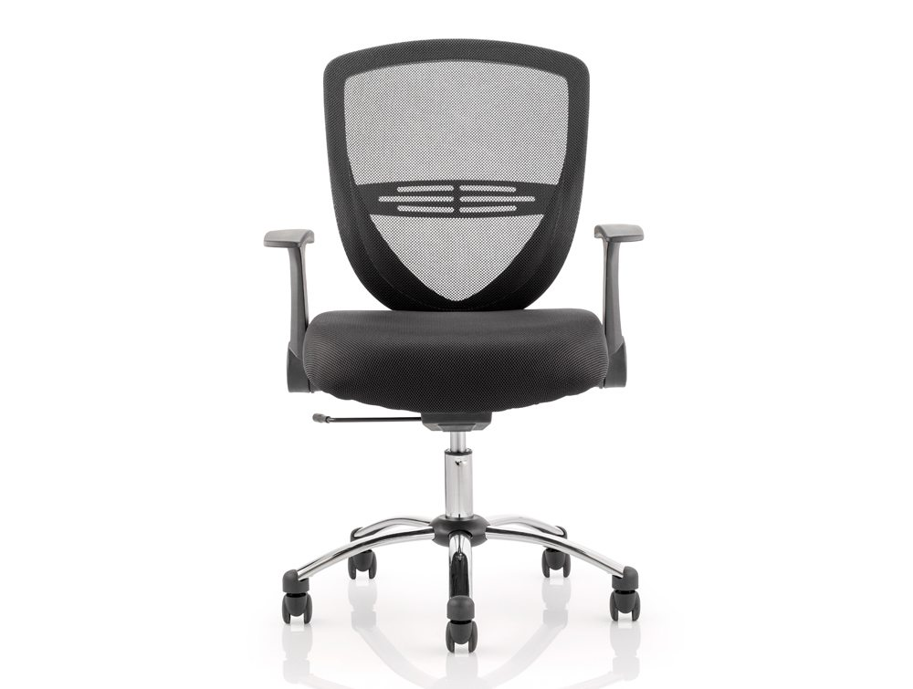 Iris Task Operator Chair Black Fabric With Arms Image 2