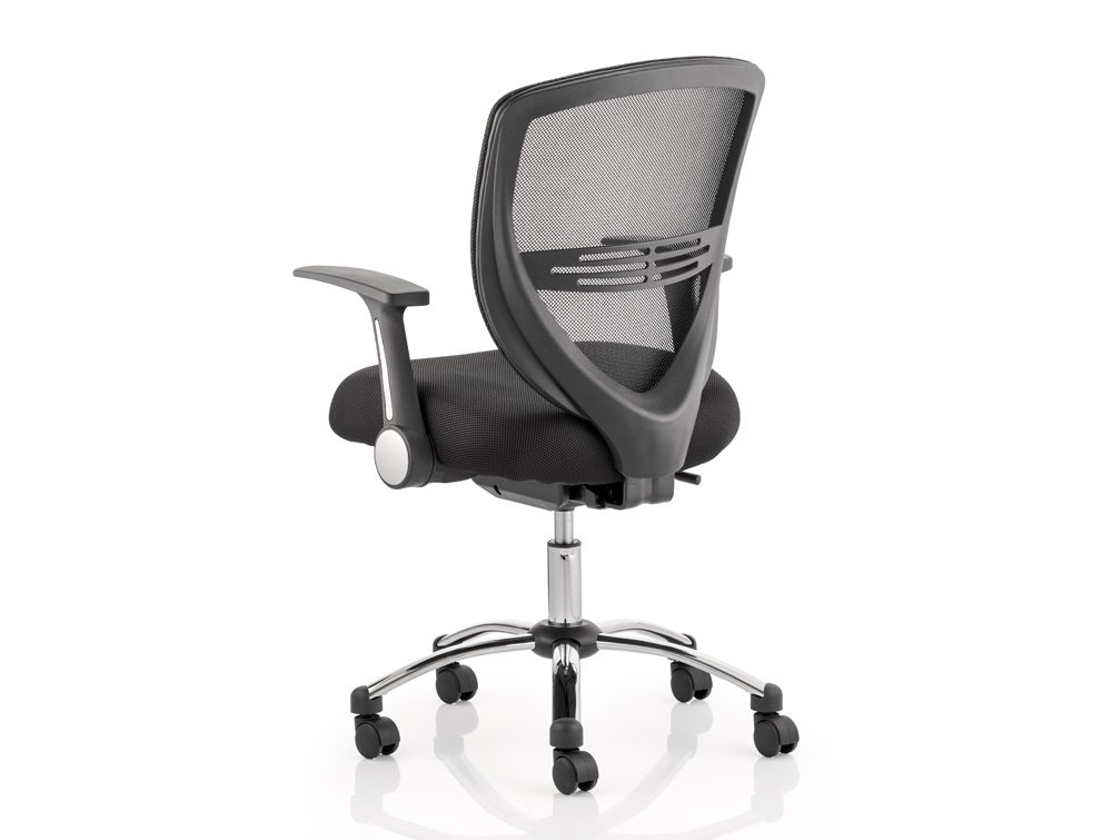 Iris Task Operator Chair Black Fabric With Arms Image 3