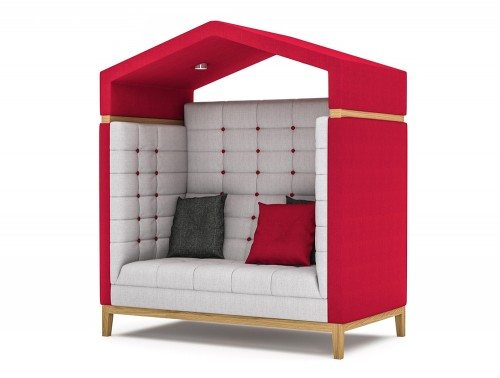 Jig Arbour 2 Seater Acoustic Meeting Pod in Red