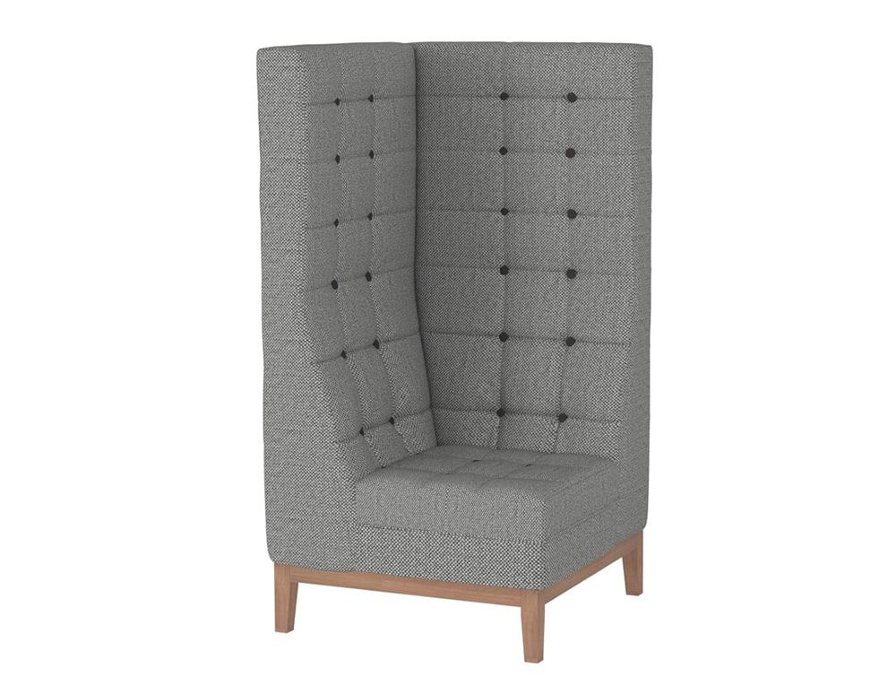Jig Modular High Back Soft Seating Range Corner Unit in Grey