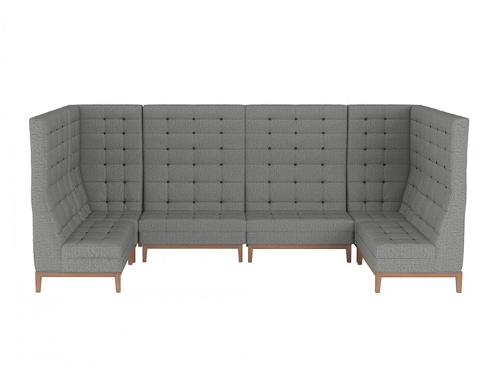 Jig Modular High Back Soft Seating Range in Grey