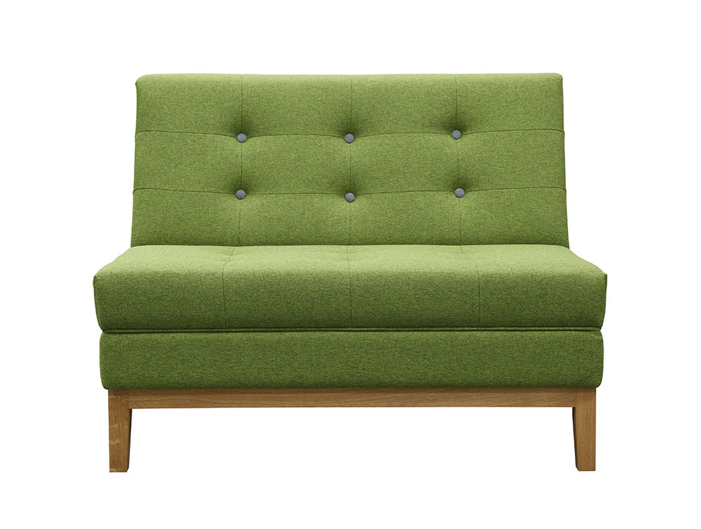 Jig Modular Low Back Soft Seating Straight Unit in Green