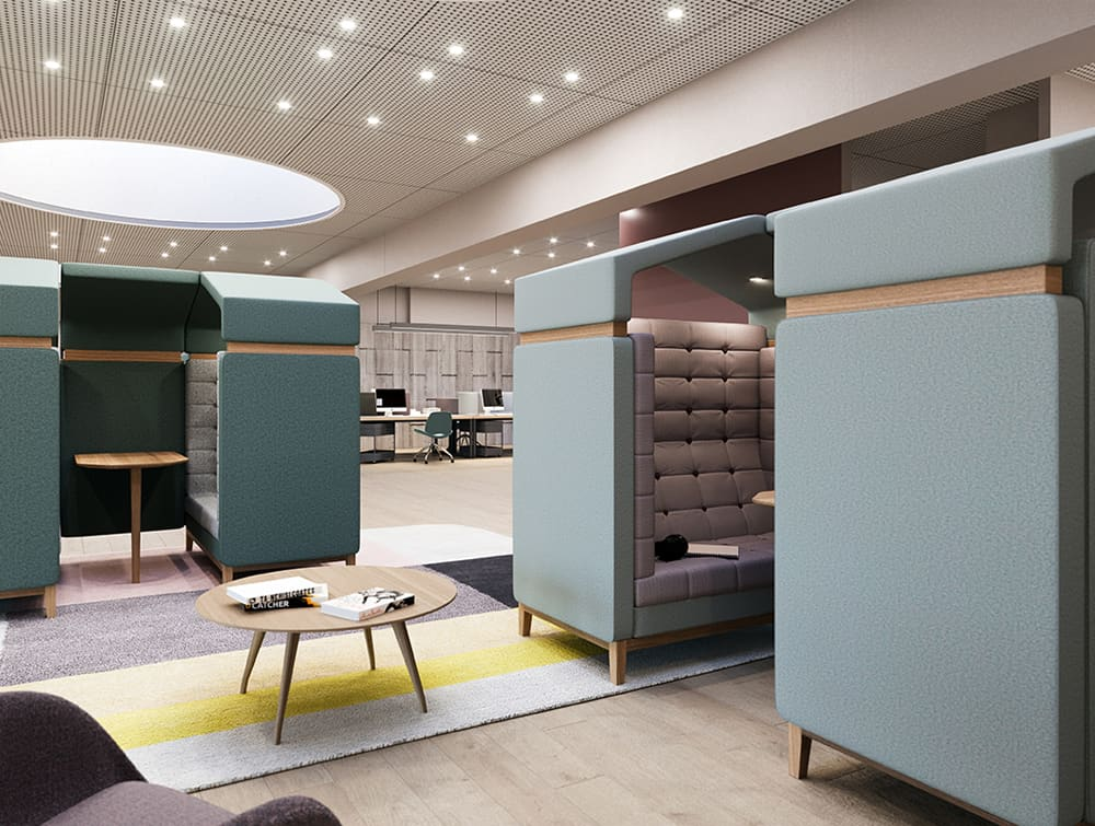 Jig Shed Modern Acoustic Seating Pod for Reception Area