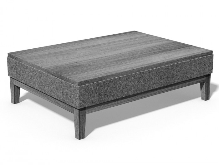Jig Upholstered Low Coffee Table Rectangle
