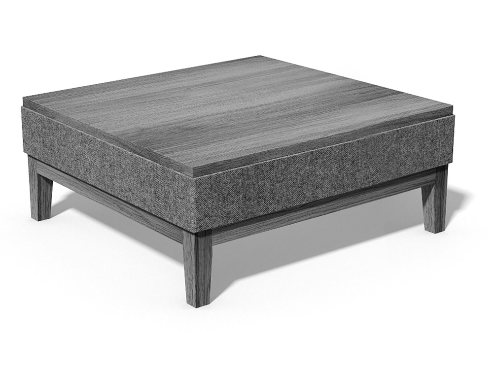 Jig Upholstered Low Coffee Table Square in Grey