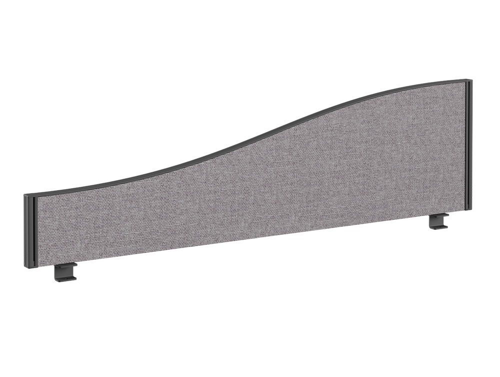 Join Desk Wave Fabric Screen - 1200 x 380mm
