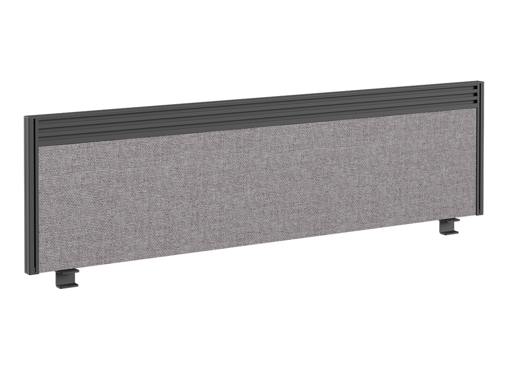Join On Desk Straight Fabric Screen with Toolbar - 1400 x 380mm