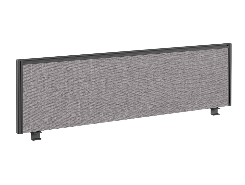 Join Desk Straight Desk Fabric Screen with Single Toolbar - 1800 x 380mm