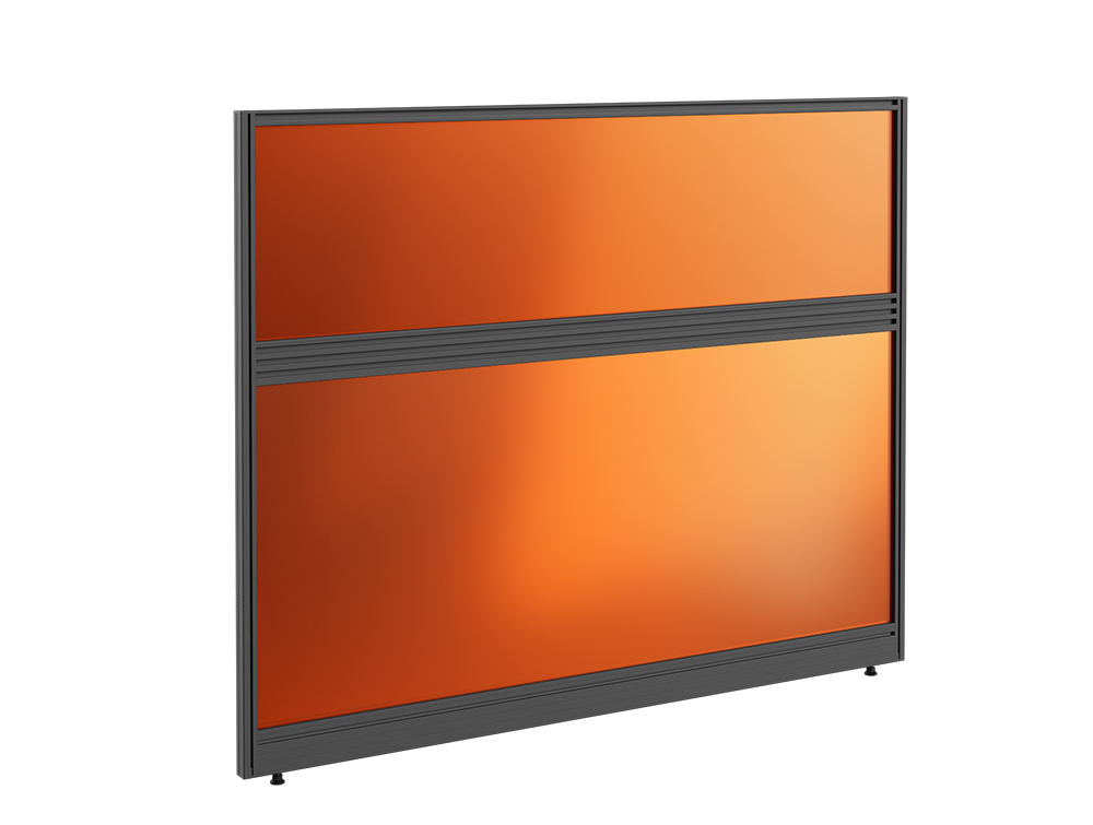 Join Up Freestanding Straight Fully Glazed Screen with Toolbar - W1600mm x H1000mm